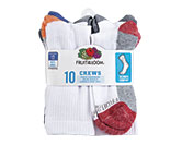 Boys' Value Pack Crew Socks